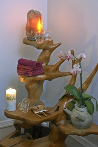 House of Fertility and Healing_Acupuncture Treatment Room Wooden Stand